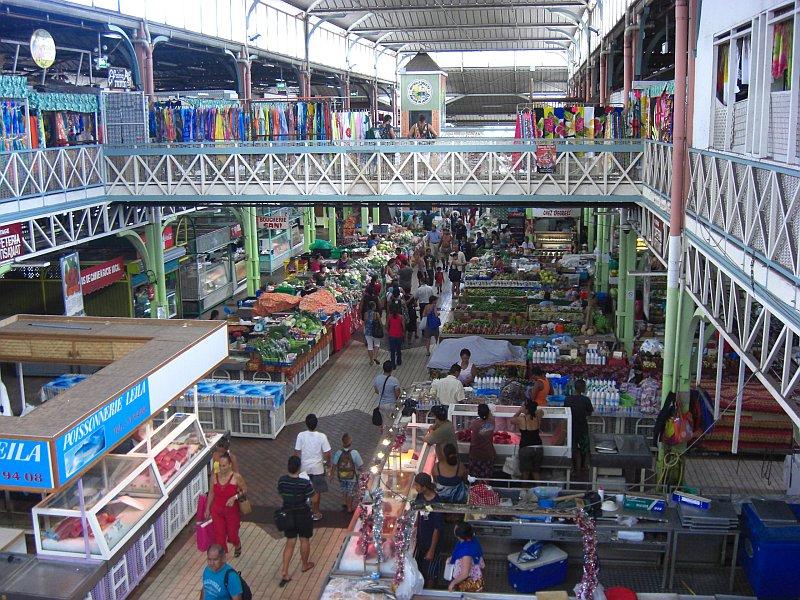 Papeete, Tahiti, Markthalle