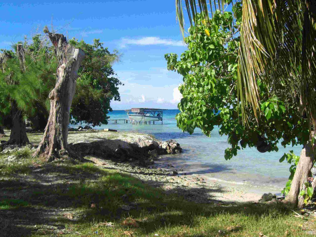 ein Inselatoll in der Südsee