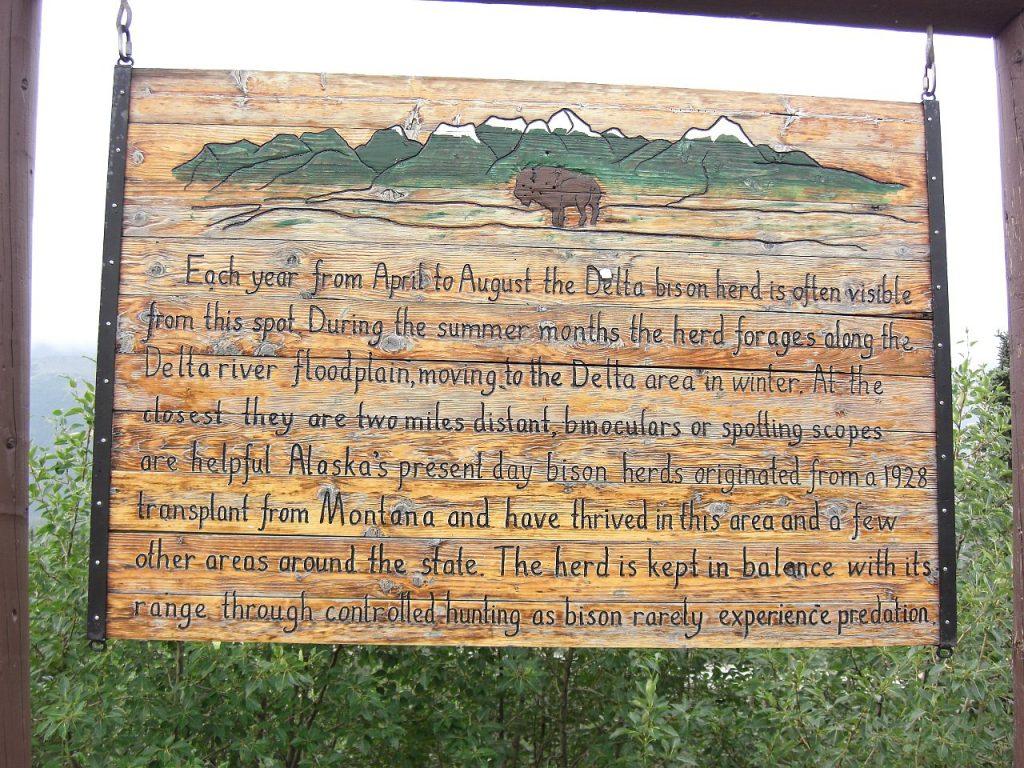 Schild vom Denalinationalpark in Alaska