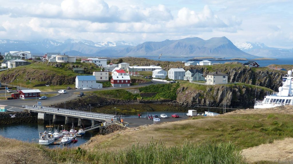 Dorf auf Island