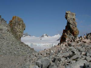 Landschaft in der Antarktis.