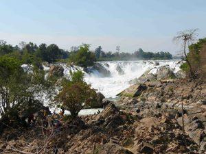 Khong-Pha-Pheng-Wasserfälle am Mekong
