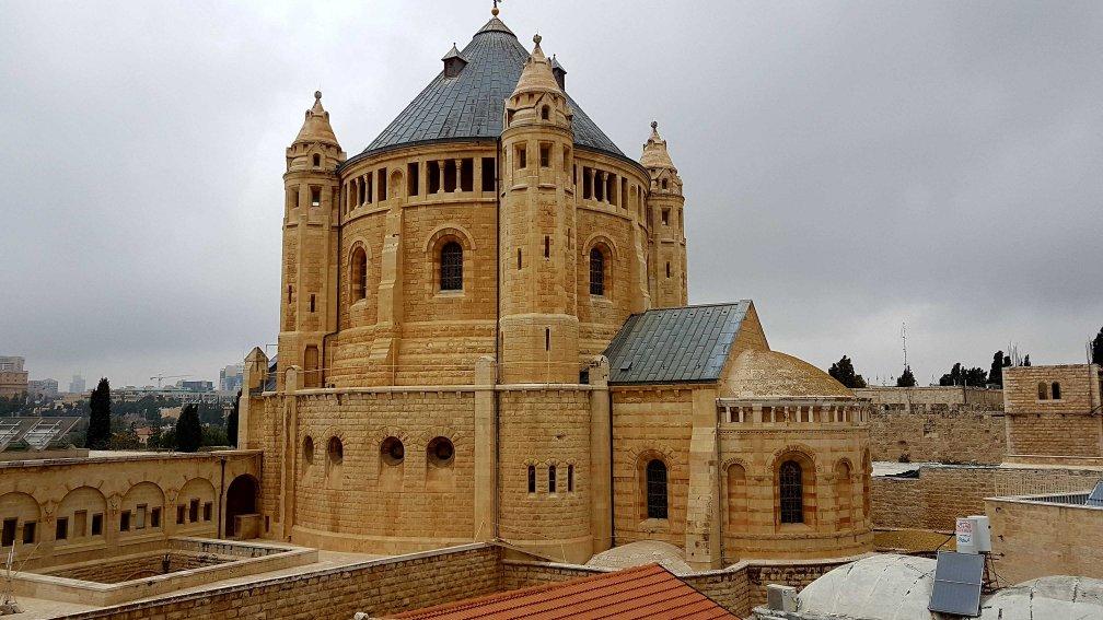 Die Dormitio-Abtei in Jerusalem, Israel