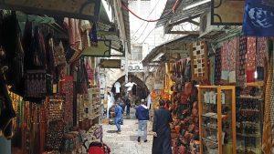 Bazar im arabischen Viertel von Jerusalem
