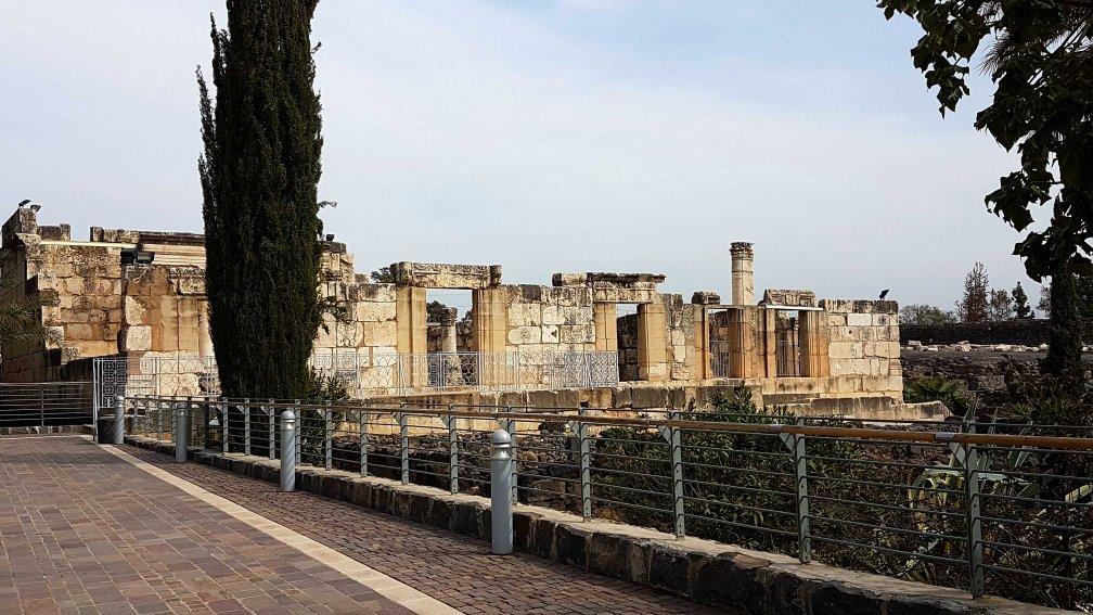 Ruine einer Synagoge in Kapernaum, Israel