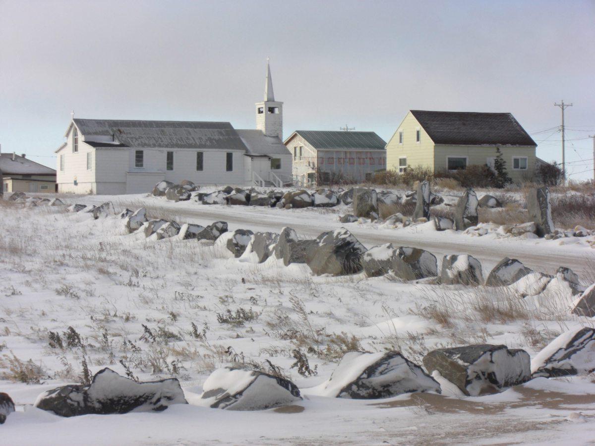 Blick auf den Ort Churchill in der Provinz Manitoba in Kanada
