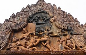 Der Tempel Banteay Srei in Kambodscha