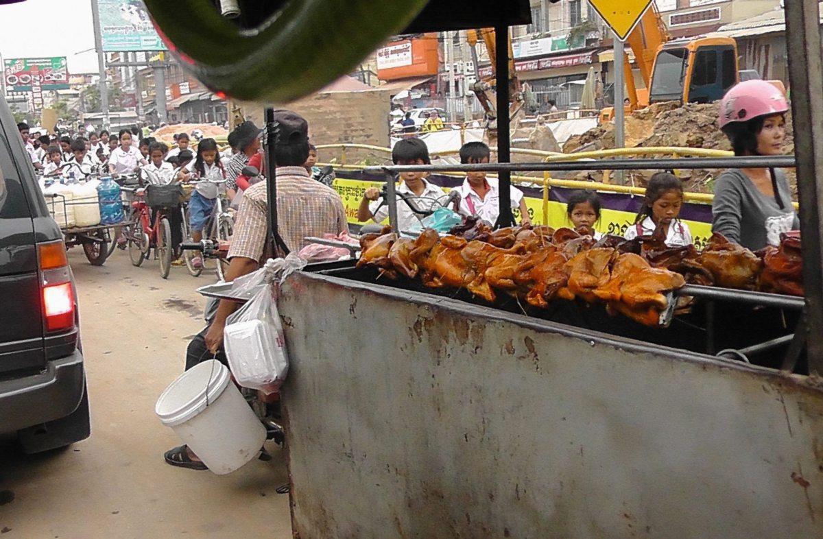 Straßenszene in Siam Real, Kambodscha