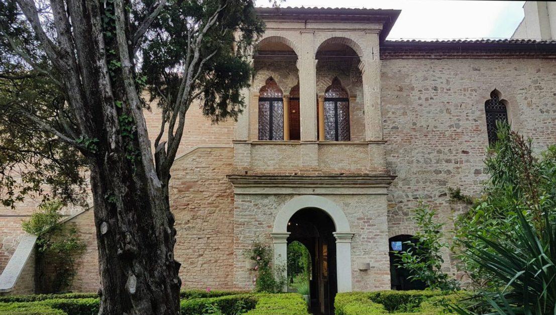 Das Haus von Francesco Petrarca in Arquà Petrarca, Italien