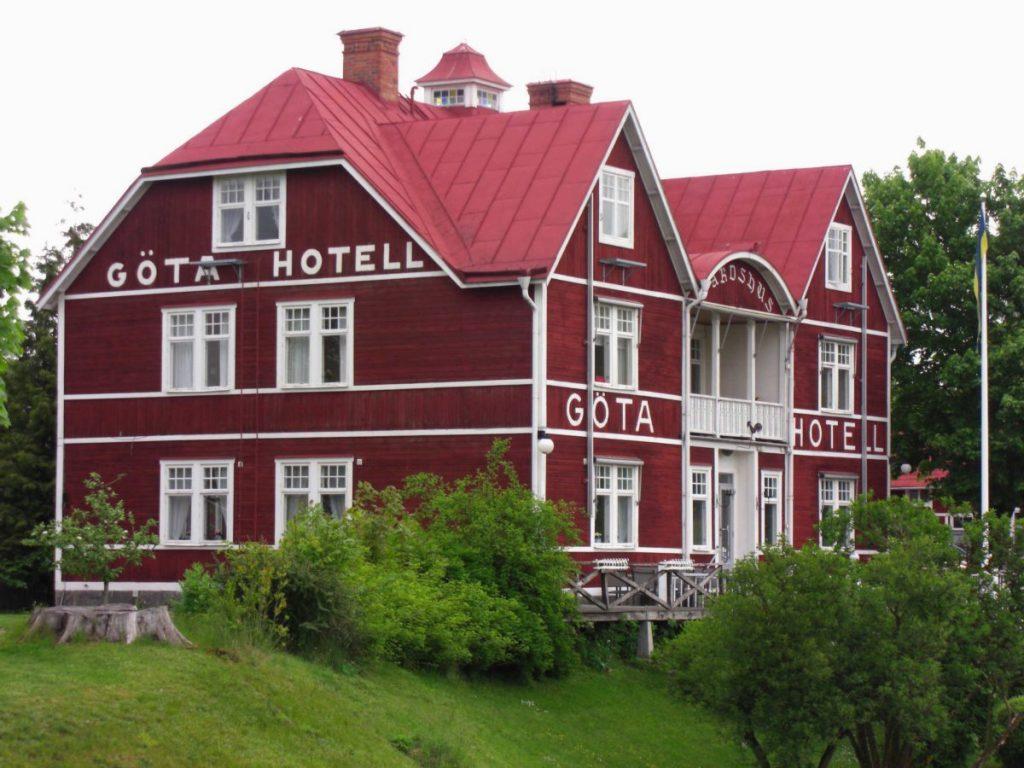 Das Göta Hotel am Götakanal bei Borensberg, Schweden.