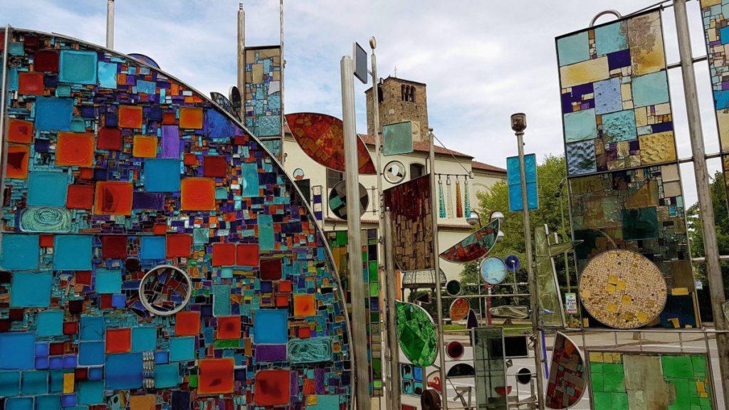 Glaskunstwerk in Montegrotto Terme, Italien