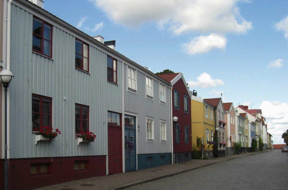 Innenstadt von Västervik, an der Ostküste von Schweden