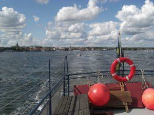 Blick vom Ausflugsboot auf Västervik