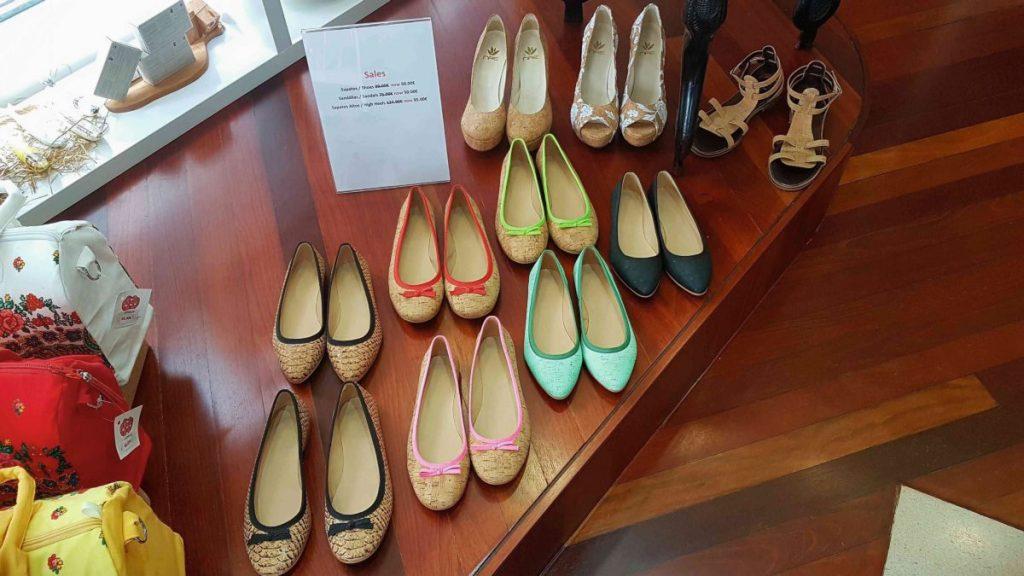 Schuhe aus Kork, gesehen in Funchal, Madeira