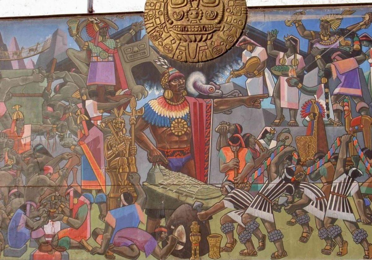 Wandbild in Cusco, Peru