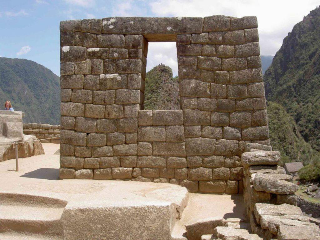 Steinmauern in Machu Picchu