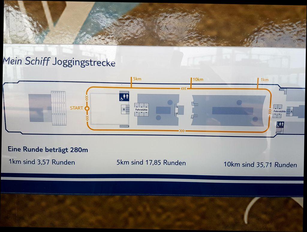 """Die Joggingrunde auf der """"Mein Schiff 6"""" von TUI Cruises."""
