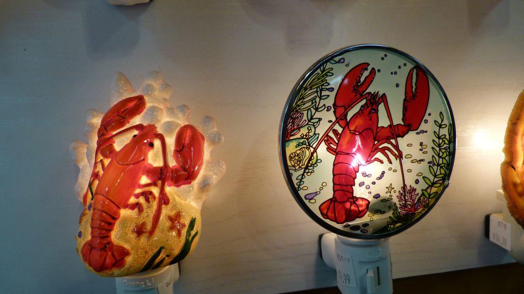 Lampen in Krabbenform