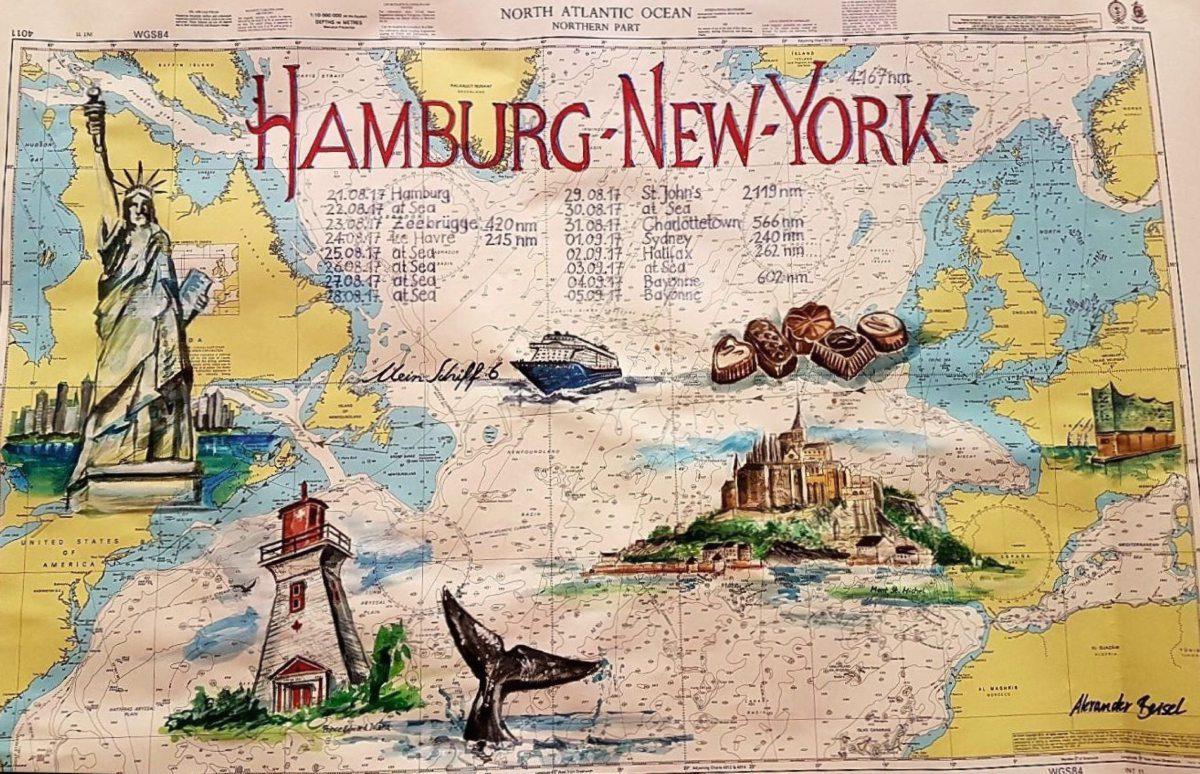 """Seekarte der """"Mein Schiff 6"""" von TUI Cruises"""