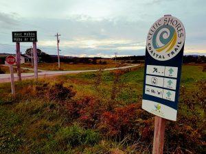 Schild des Cabot Trails in Nova Scotia, Kanada.