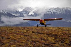Kleinflugzeug im Wrangell-St. Elias Nationalpark
