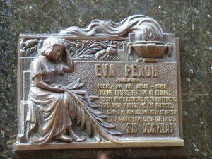Das Grab von Eva Peron auf dem Friedhof von La Recoleta