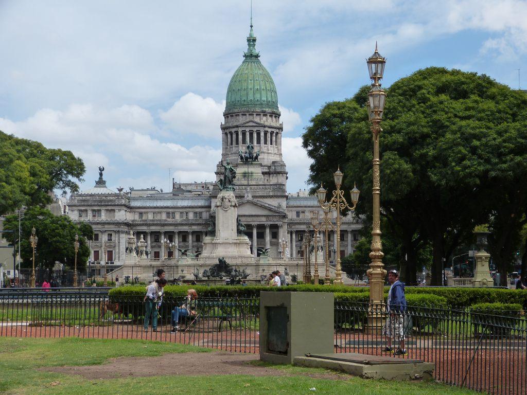 Das argentinische Parlamentsgebäude in Buenos Aires