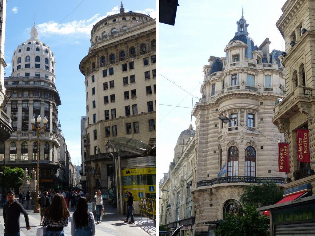 Prachtvolle Gebäude in der Innenstadt von Buenos Aires
