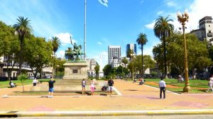 Die Plaza de Mayo in Buenos Aires
