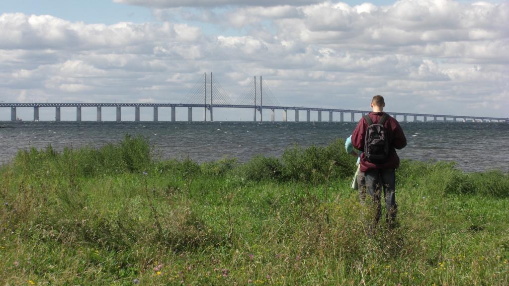 Die Öresundbrücke bei Malmö in Schonen, Schweden
