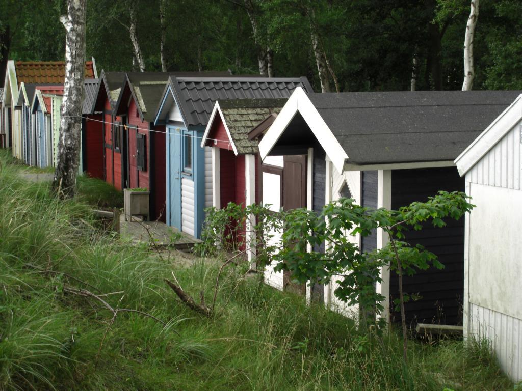 Strandhütten an der schonischen Küste, Schweden