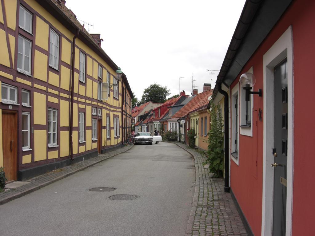 Fachwerkhäuser in Ystad in Schonen, Schweden