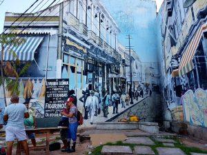 Graffiti an einem Haus im brasilianischen Belém