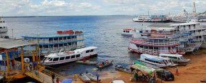 Bootspier im brasilianischen Manaus am Amazonas