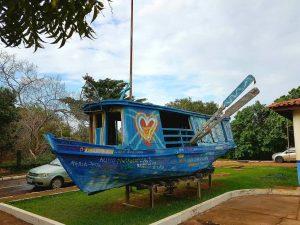 Bootsmotiv im brasilianischen Alter do Chão am Amazonas