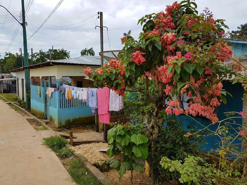Haus im brasilianischen Jutai am Amazonas