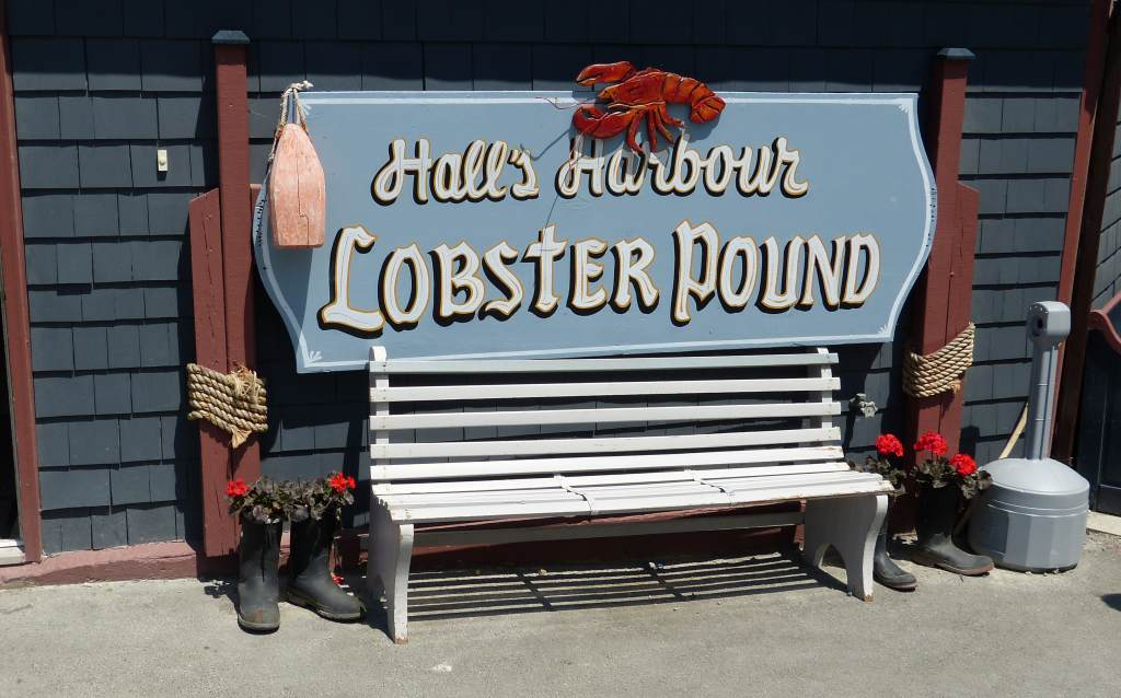 Das Restaurant Lobster Pound in dem Küstenort Hall`s Harbour an der Bay of Fundy, Kanada