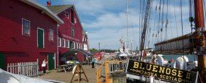 Küstenort Lunenburg in Nova Scotia, Kanada.