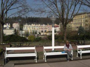 Häuserzeile im Kurviertel von Marienbad, Tschechien