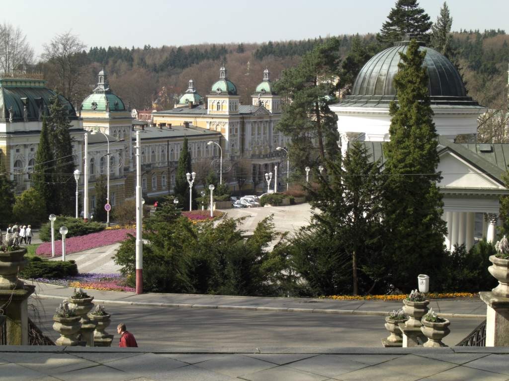das Hotel Nové Lázné im Zentrum von Marienbad, Tschechien