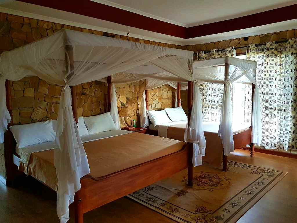 Enyati-Lodge beim Ngorongoro-Krater in Tansania.