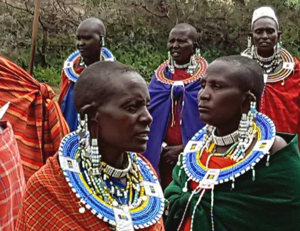 Massais im Ngorongoro-Schutzgebiet, Tansania