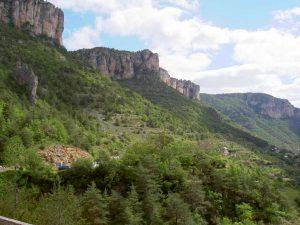 Landschaft im Nationalpark Cevennen in Frankreich.