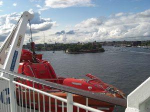Impressionen von der Ausfahrt aus dem Hafen Stockholm