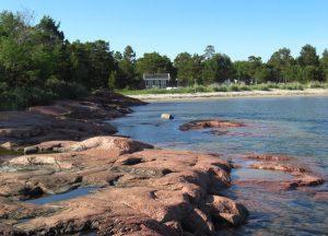 Küstenabschnitt auf Åland, dem Schärenparadies in der Ostsee