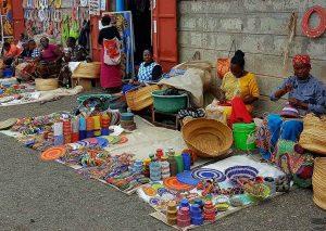 Massaimarkt in Arusha, Tansania