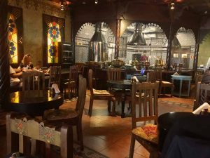 Restaurant am Flughafen Moskau