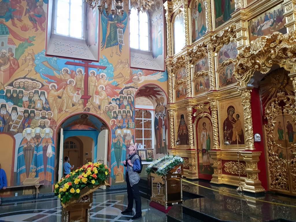 die Christi-Erscheinungskathedrale im sibirischen Irkutsk unweit des Baikalsees