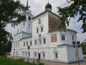 die Erlöserkirche im sibirischen Irkutsk unweit des Baikalsees.