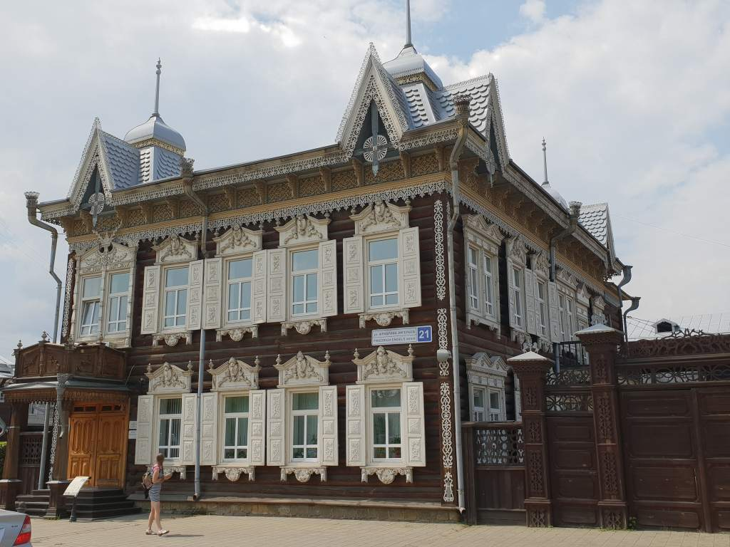 das Europahaus im sibirischen Irkutsk unweit des Baikalsees.